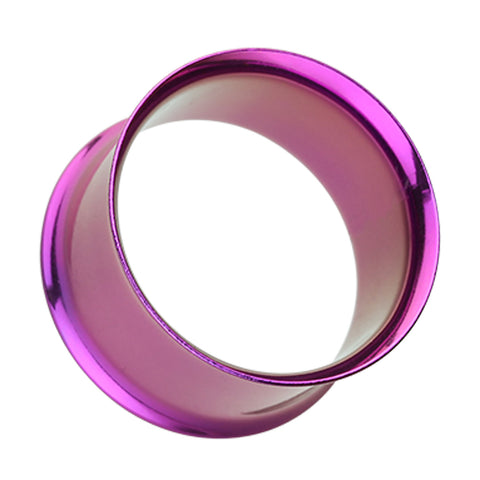 "Colorline 316L Surgical Steel Double Flared Ear Gauge Tunnel Plug - 5/8"" (16mm) - Purple - Sold as a Pair"