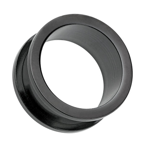 "Colorline 316L Surgical Steel Screw-Fit Ear Gauge Tunnel Plug - 9/16"" (14mm) - Black - Sold as a Pair"