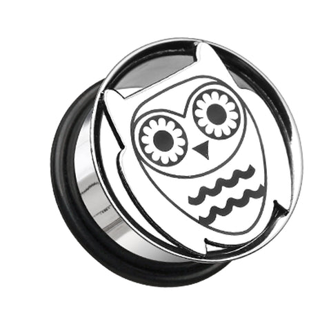 "Owl Hollow 316L Surgical Steel Single Flared Ear Gauge Plug - 3/4"" (19mm)  - Sold as a Pair"