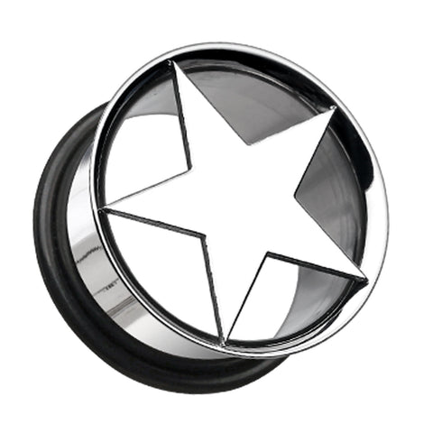 "Nova Star Hollow 316L Surgical Steel Single Flared Ear Gauge Plug - 7/16"" (11mm)  - Sold as a Pair"