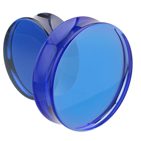 "Supersize Acrylic Double Flared Ear Gauge Plug - 1-1/8"" (29mm) - Blue - Sold as a Pair"