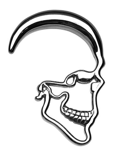 Skull Ray 316L Surgical Steel Ear Gauge Hanging Taper - 2 GA (6.5mm)  - Sold as a Pair