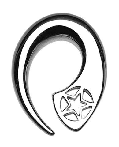 Star Fin 316L Surgical Steel Ear Gauge Hanging Taper - 4 GA (5mm)  - Sold as a Pair