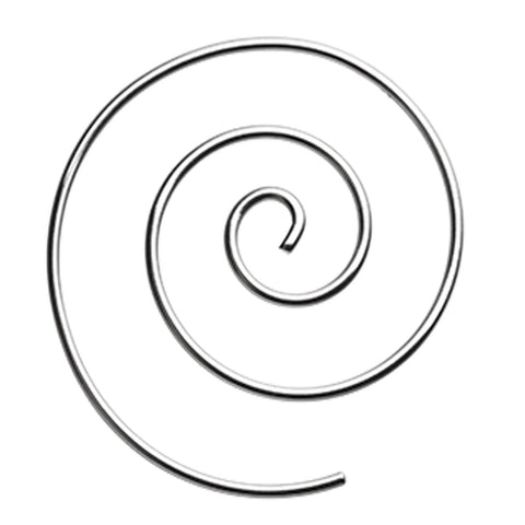 316L Surgical Steel Spiral Coiled Earring - 16 GA (1.2mm)  - Sold as a Pair