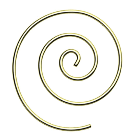 Golden Colored Spiral Coiled Earring - 14 GA (1.6mm)  - Sold as a Pair