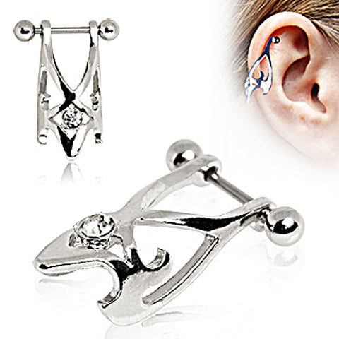 316L Surgical Steel Hawk Cartilage Earring