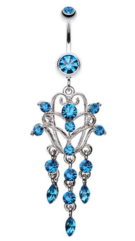 Chandelier Filigree Belly Button Ring