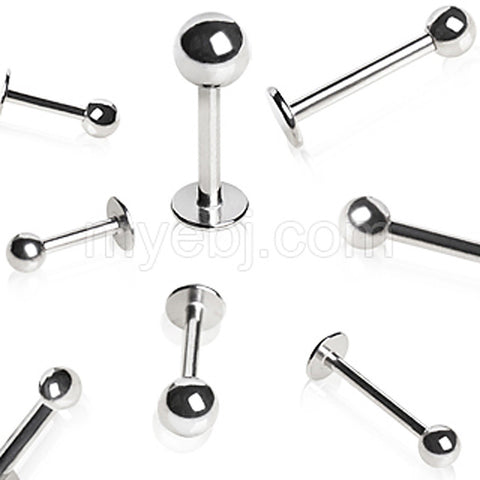100pcs Package 16GA 316L Surgical Steel Labret with Ball - 16GA - Sold 100 pcs