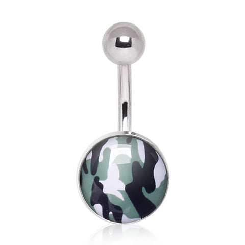 316L Surgical Steel Camouflage Navel Ring