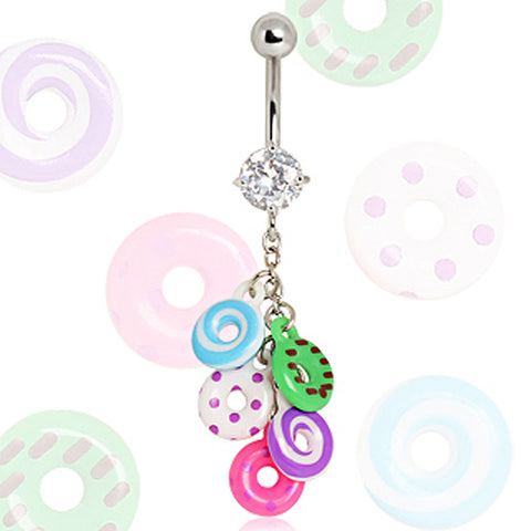 316L Surgical Steel Donuts Navel Ring