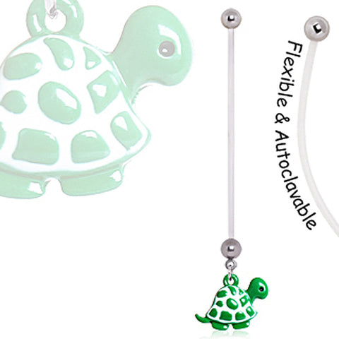 BioFlex Green Baby Turtle Pregnancy Navel Ring