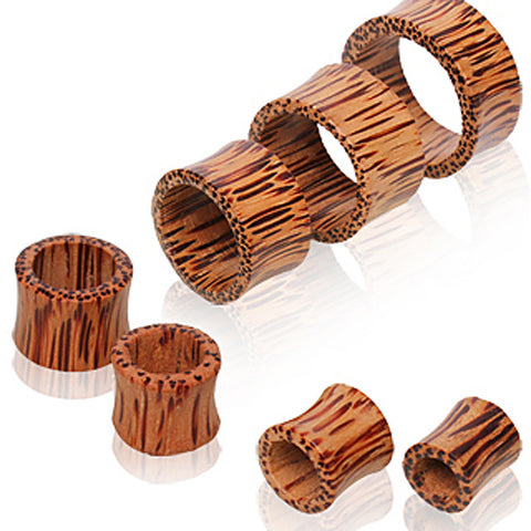 Coconut Wood Tunnel Plug - 0GA - Sold as a Pair