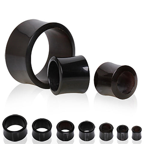 Buffalo Horn Tunnel Plug - 4GA - Sold as a Pair