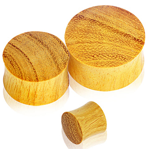 "Organic Jackfruit Wood Saddle Plug - 3/4"" - Sold as a Pair"