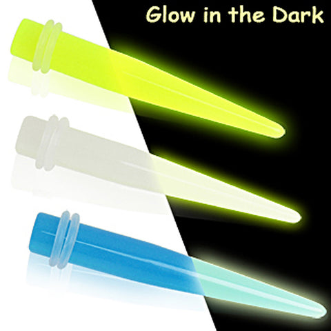 Glow in the Dark Taper - 10GA White - Sold as a Pair