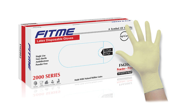 FITME General Purpose Powder Free Latex Gloves (Case of 1,000) - 5.5 Mil