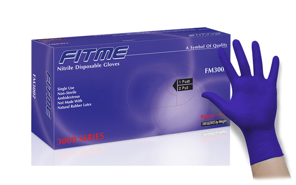 FITME General Purpose Powder Free Nitrile Gloves (Case of 1,000) - 3.6 Mil