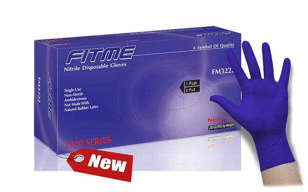 FITME General Purpose Powder Free Nitrile Gloves (Case of 2,000) - 3.6 Mil