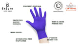 EnSure® Low Dermatitis Potential Medical Examination Nitrile Gloves (Case of 2,000) - 4.0 Mil