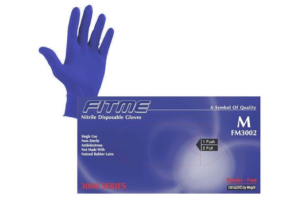 FITME General Purpose Powder Free Nitrile Gloves - Half Pallet, $35.70/Case