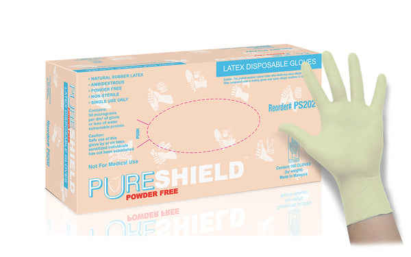 General Purpose Powder Free Latex Gloves (Case of 1,000) - 6.0 Mil
