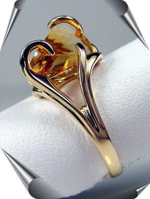 Lighthouse Lens Cut Citrine Ring
