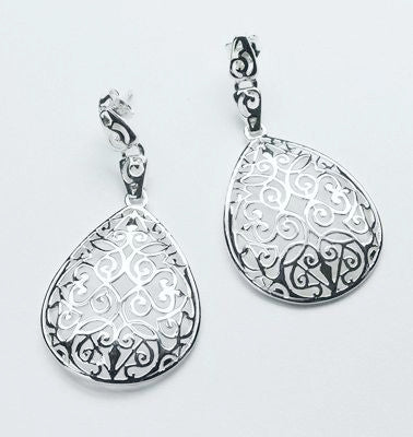 Southern Gates Teardrop Scroll Earrings