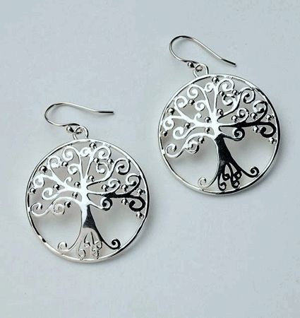 "Tree of Life Earrings from the ""Southern Gates"" collection."