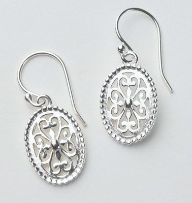 Southern Gates Collection Beaded Oval Earrings