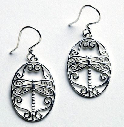 Dragonfly Earrings from the Southern Gates Pendants Collection