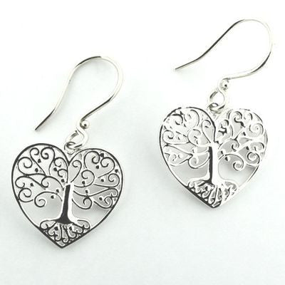 Tree of life Southern Gates Heart Earrings