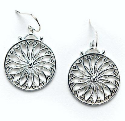 Southern Gates Jewelry, sun design in Sterling Silver.