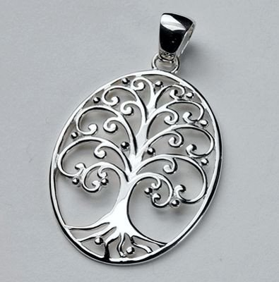 Sterling Silver Tree of Life Charm approximately 25 x 20 mm