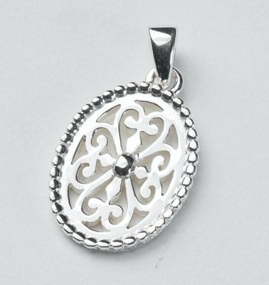 Southern Gates Collection Beaded Oval Pendant