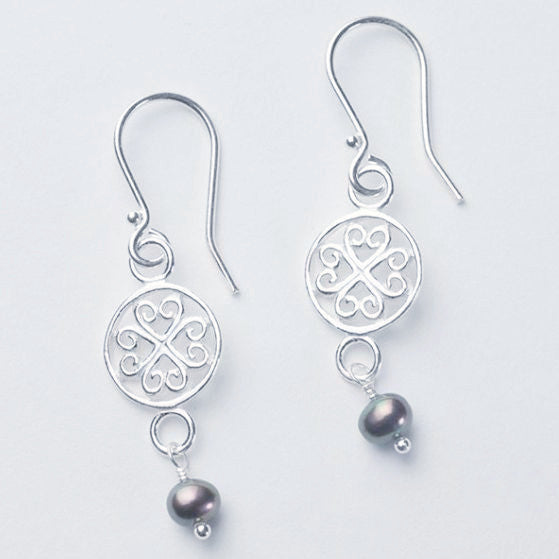 """Southern Gates"" Earrings with Choice of Pearls."