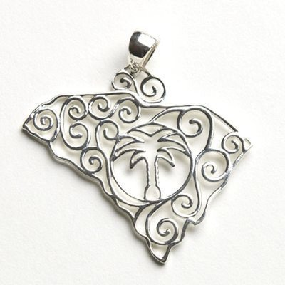 Southern Gates South Carolina Pendants in Sterling Silver