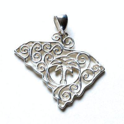 Southern gates state pendants in sterling silver southern gates south carolina pendants aloadofball Gallery