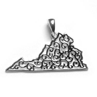 Southern Gates Virginia Pendants in Sterling Silver