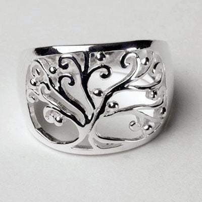 "Tree of Life Ring in Silver from the ""Southern Gate"" Collection."