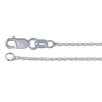 1mm Sterling Silver Rope Chain