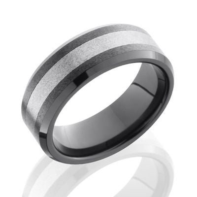 Ceramic and Tungsten Wedding Band