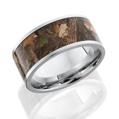 Cobalt Chrome Band with Woodland Camo inlay