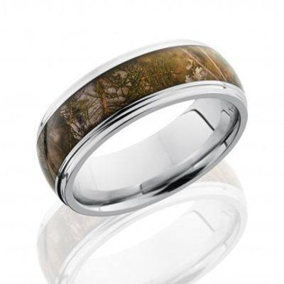"Cobalt Chrome Camouflage Rings with ""King's Mountain Shadow"" Inlay."