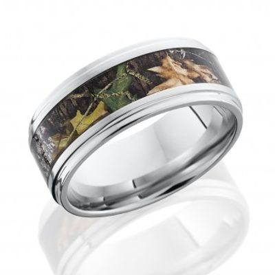 "cobalt camo ring with ""mossy oak"" camo design"