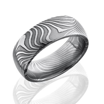 Damascus Steel Bands with a Flat Twist Pattern