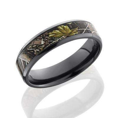 "Zirconium Camo Ring featuring the ""Realtree APG"" Camouflage Inlay"