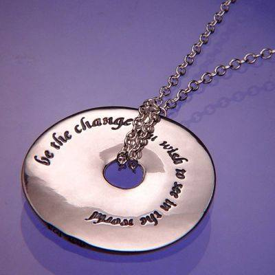 Be The Change Sterling Silver Necklace