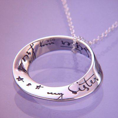 My sister, my friend Necklace in Sterling Silver