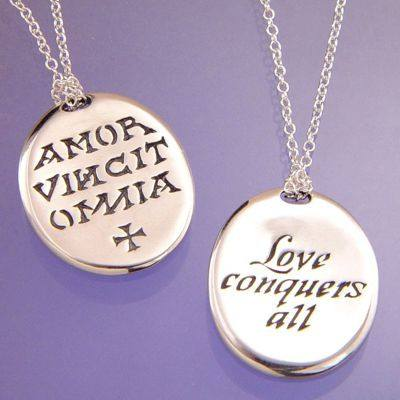 Love Conquers All Necklace in Sterling Silver