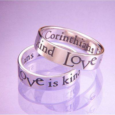 1 Corinthians 13:4 Poesy Ring ~ Love is Patient, Love is Kind